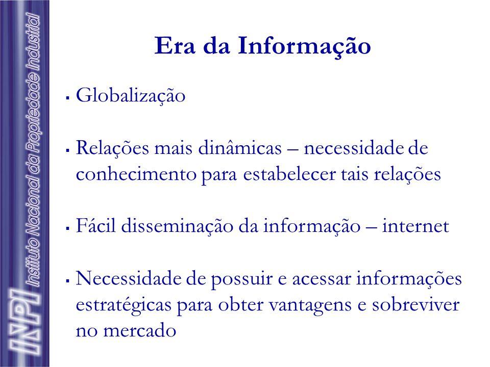  Globalização  Relações mais dinâmicas – necessidade de conhecimento para estabelecer tais relações  Fácil disseminação da informação – internet  Necessidade de possuir e acessar informações estratégicas para obter vantagens e sobreviver no mercado Era da Informação
