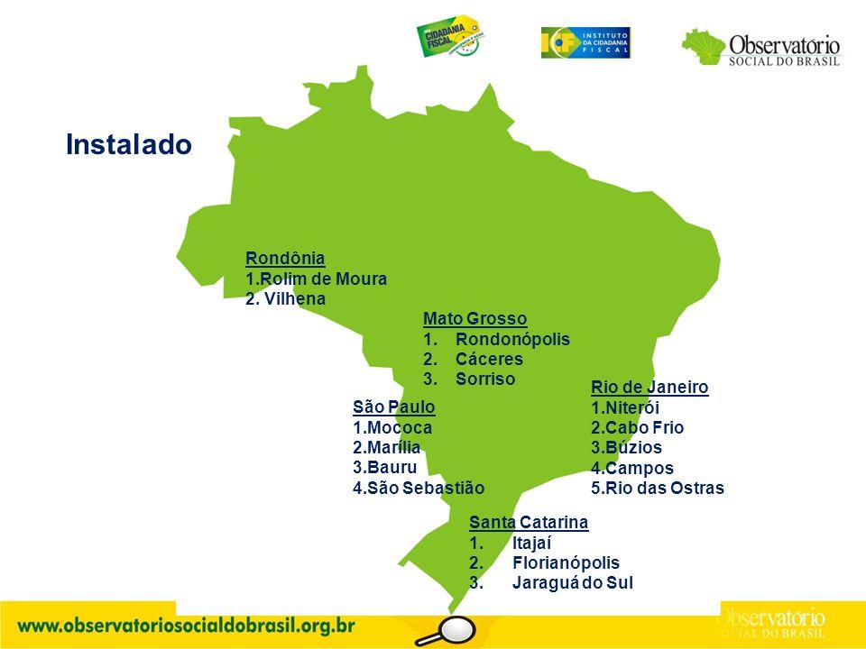 Santa Catarina 1.Itajaí 2.Florianópolis 3.Jaraguá do Sul Rondônia 1.Rolim de Moura 2.
