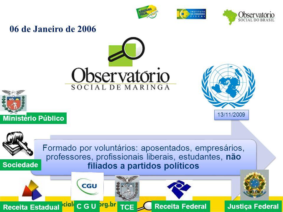 Formado por voluntários: aposentados, empresários, professores, profissionais liberais, estudantes, não filiados a partidos políticos 06 de Janeiro de