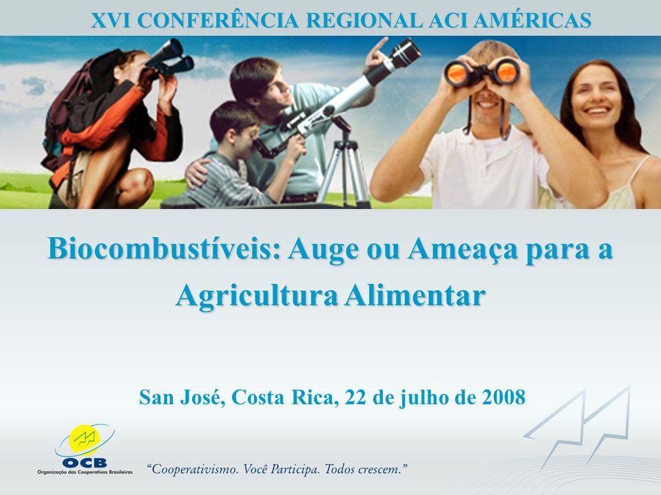Biocombustíveis: Auge ou Ameaça para a Agricultura Alimentar XVI CONFERÊNCIA REGIONAL ACI AMÉRICAS San José, Costa Rica, 22 de julho de 2008