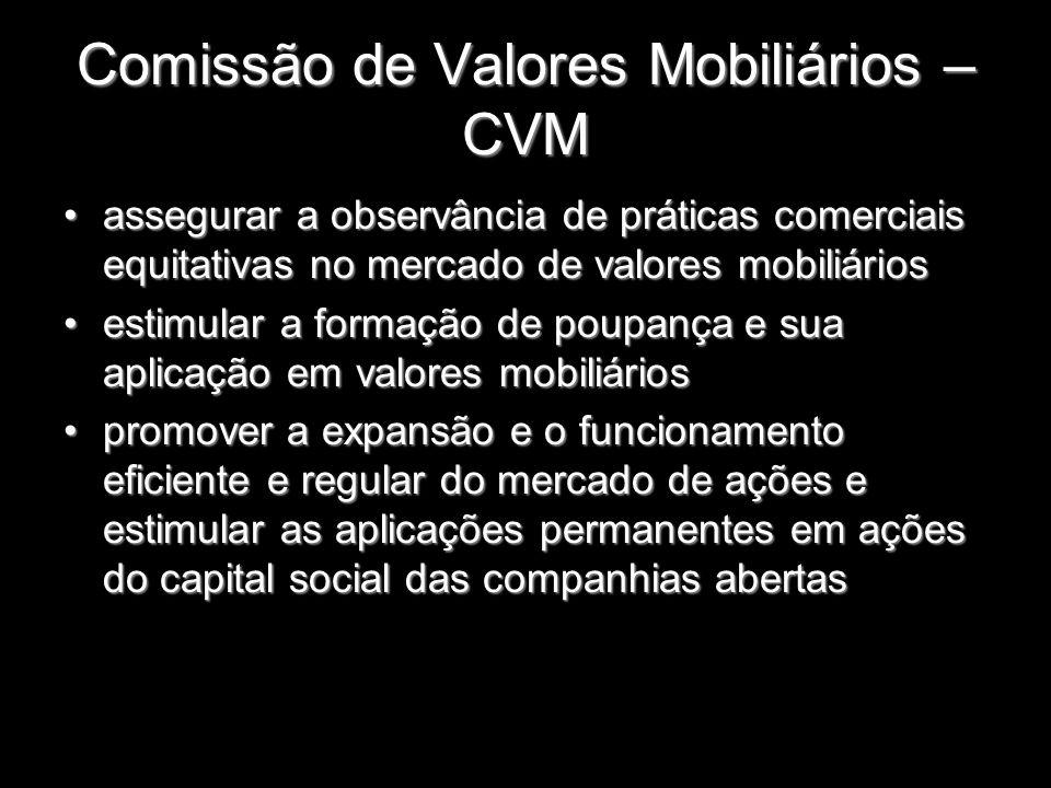 Comissão de Valores Mobiliários – CVM assegurar a observância de práticas comerciais equitativas no mercado de valores mobiliáriosassegurar a observân