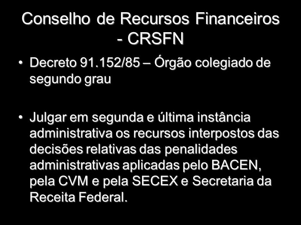 Conselho de Recursos Financeiros - CRSFN Decreto 91.152/85 – Órgão colegiado de segundo grauDecreto 91.152/85 – Órgão colegiado de segundo grau Julgar