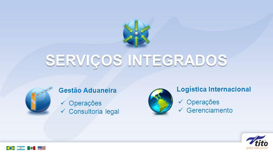 SERVIÇOS INTEGRADOS Gestão Aduaneira Operações Consultoria legal Logística Internacional Operações Gerenciamento