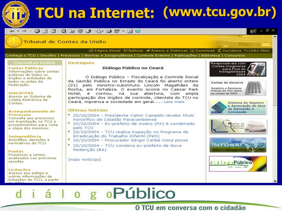 TCU na Internet: (www.tcu.gov.br)