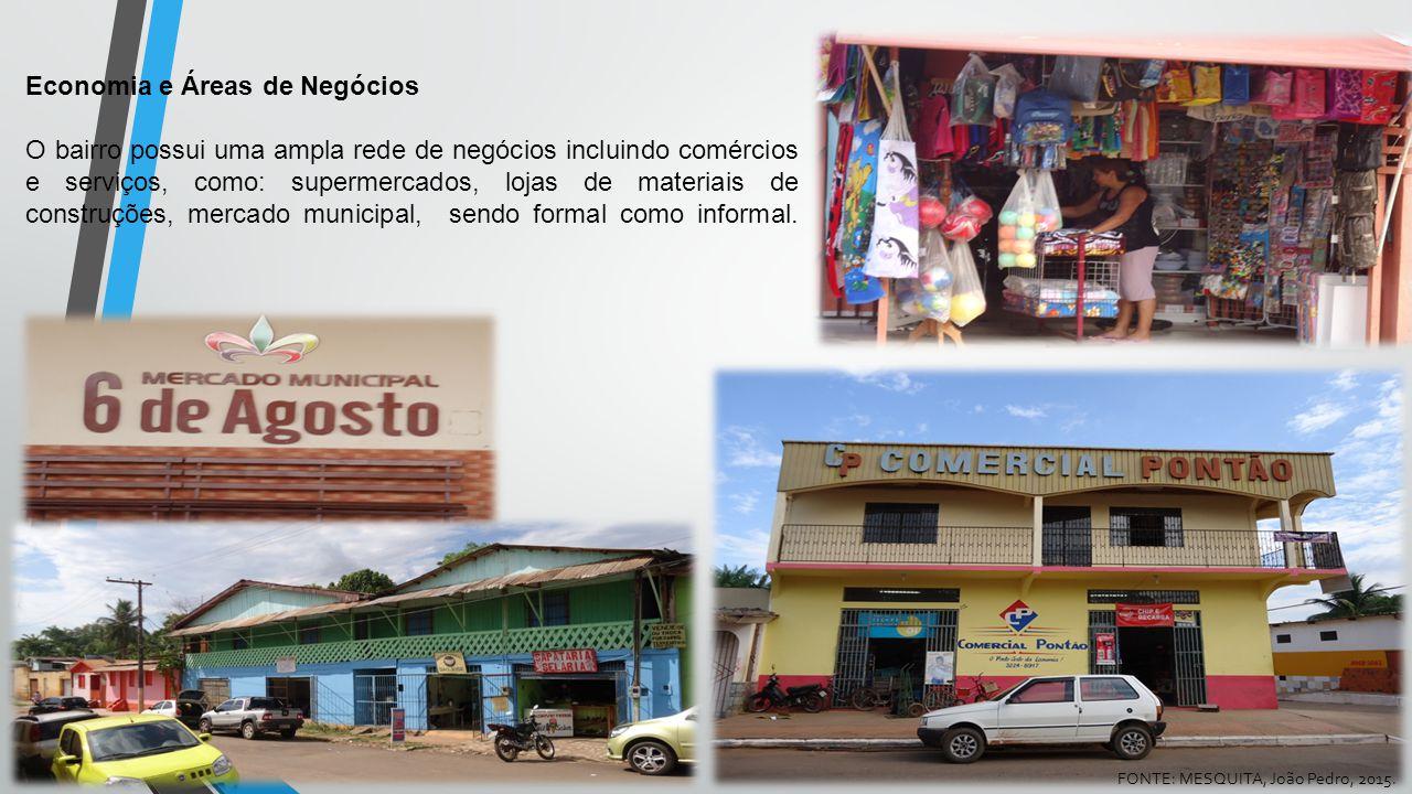 Economia e Áreas de Negócios O bairro possui uma ampla rede de negócios incluindo comércios e serviços, como: supermercados, lojas de materiais de con