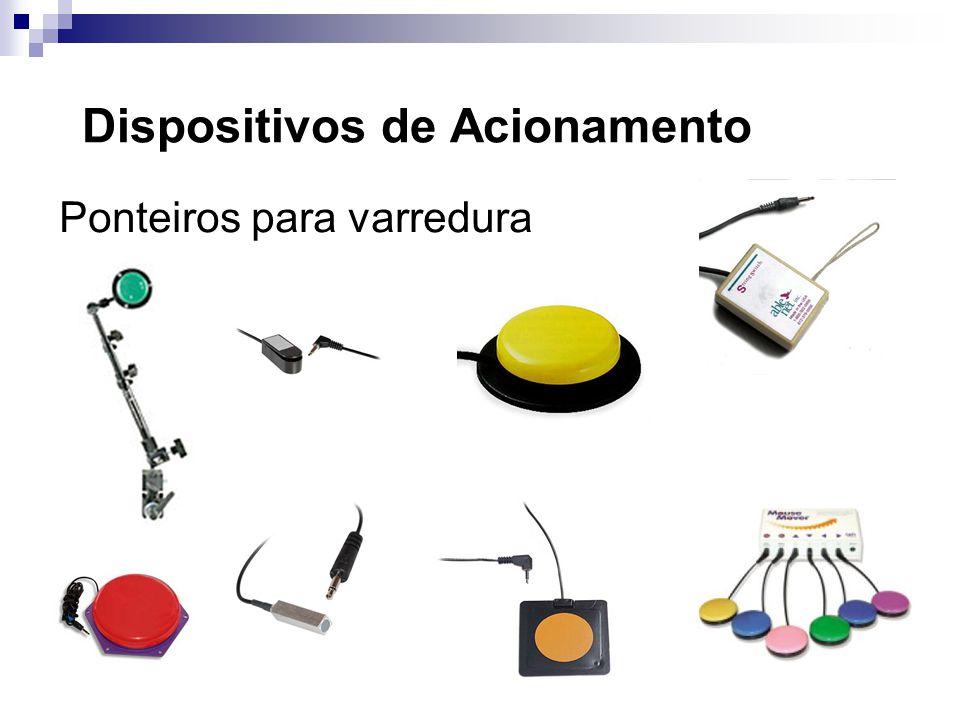 Dispositivos de Acionamento Ponteiros para varredura