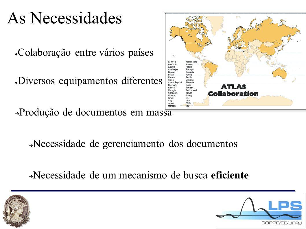As Necessidades ● Colaboração entre vários países ● Diversos equipamentos diferentes ➔ Produção de documentos em massa ➔ Necessidade de gerenciamento dos documentos ➔ Necessidade de um mecanismo de busca eficiente