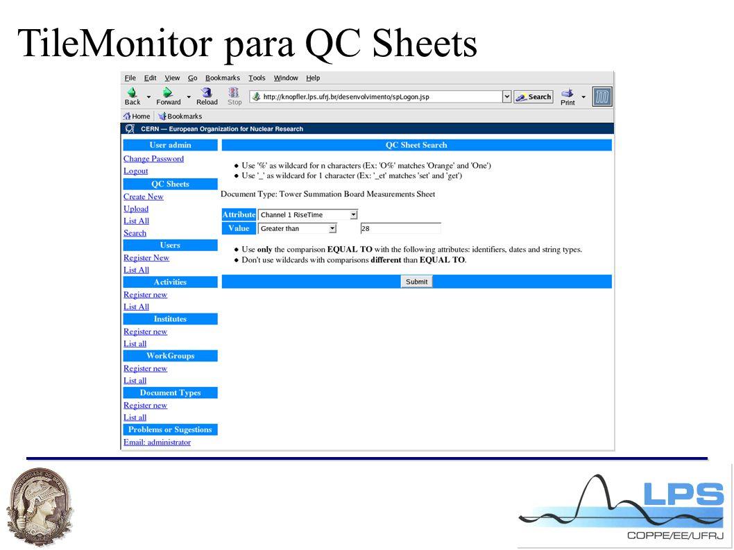 TileMonitor para QC Sheets