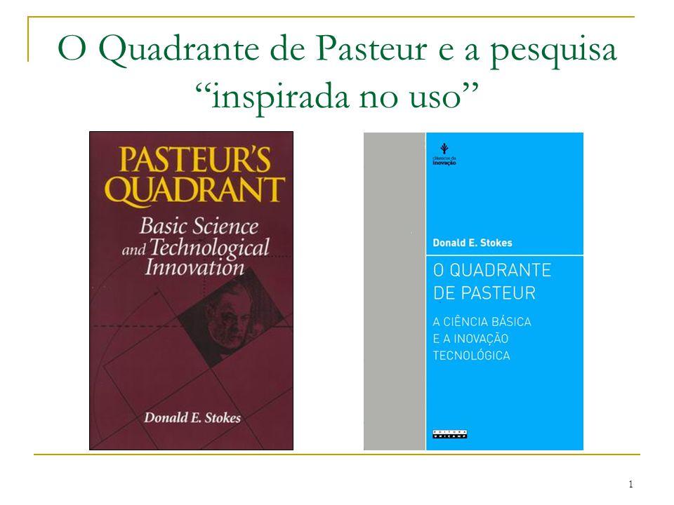 """1 O Quadrante de Pasteur e a pesquisa """"inspirada no uso"""""""