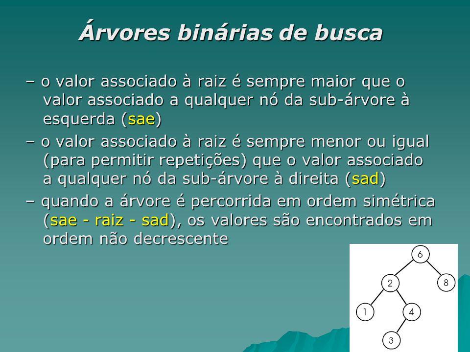 int main() { Arv* arvore; Arv* arvore; arvore = abb_cria(); arvore = abb_cria(); arvore = abb_insere(arvore,5); arvore = abb_insere(arvore,5); arvore = abb_insere(arvore,7); arvore = abb_insere(arvore,7); arvore = abb_insere(arvore,2); arvore = abb_insere(arvore,2); arvore = abb_insere(arvore,11); arvore = abb_insere(arvore,11); arvore = abb_insere(arvore,13); arvore = abb_insere(arvore,13); getch(); getch(); return 0; return 0;} E a impressão??.