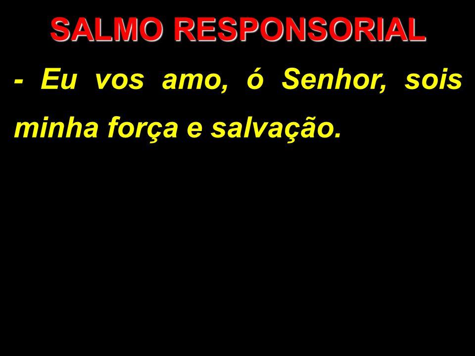 SALMO RESPONSORIAL - Eu vos amo, ó Senhor, sois minha força e salvação.