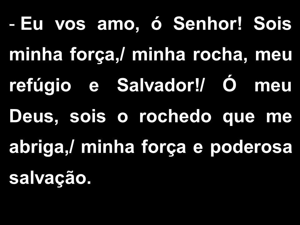 - Eu vos amo, ó Senhor.