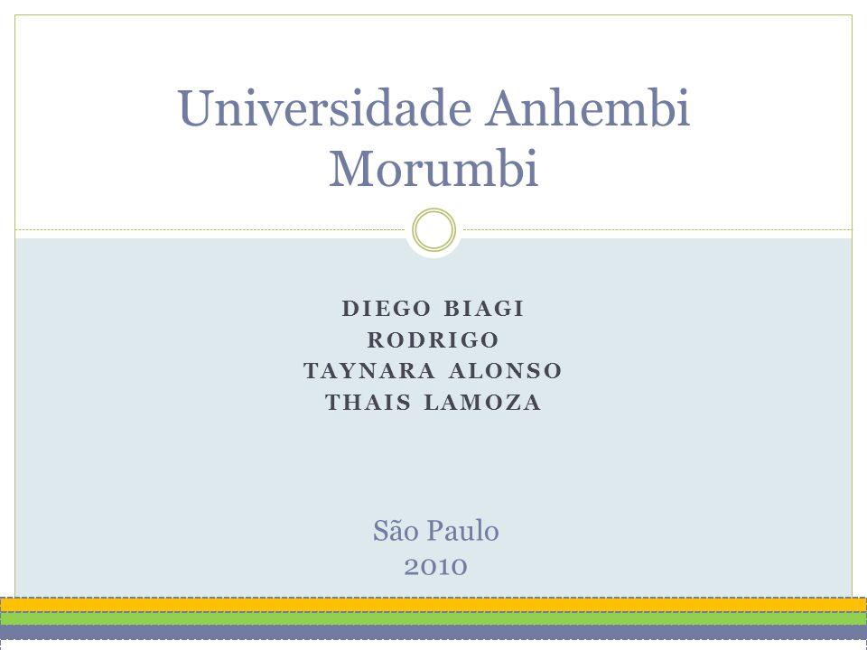 DIEGO BIAGI RODRIGO TAYNARA ALONSO THAIS LAMOZA Universidade Anhembi Morumbi São Paulo 2010