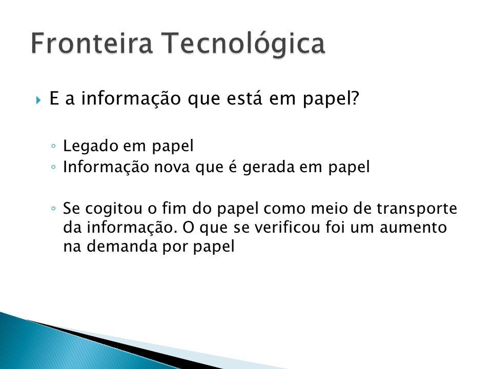  O que nos interessa é a informação. Portanto a questão é: Onde está a informação? PDF, DOC, XLS, etc. Imagem, vídeo, som Banco de dados, CRM, ERP, e