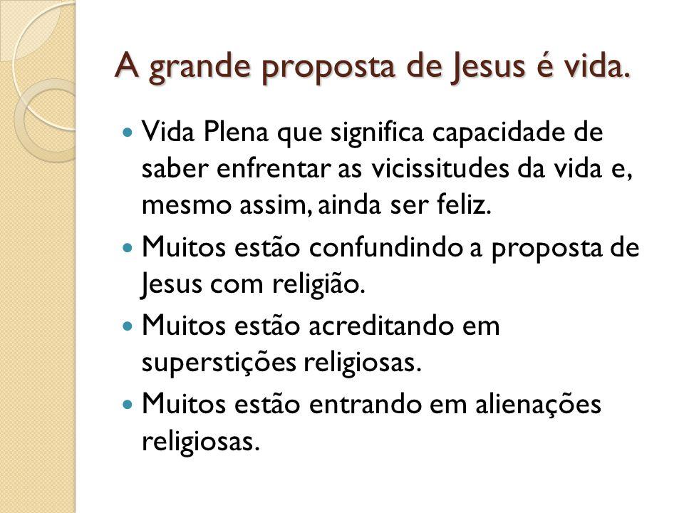 Jesus Cristo propõe um evangelho libertador que capacita cada pessoa a viver uma vida cheia de plenitude e alegria.