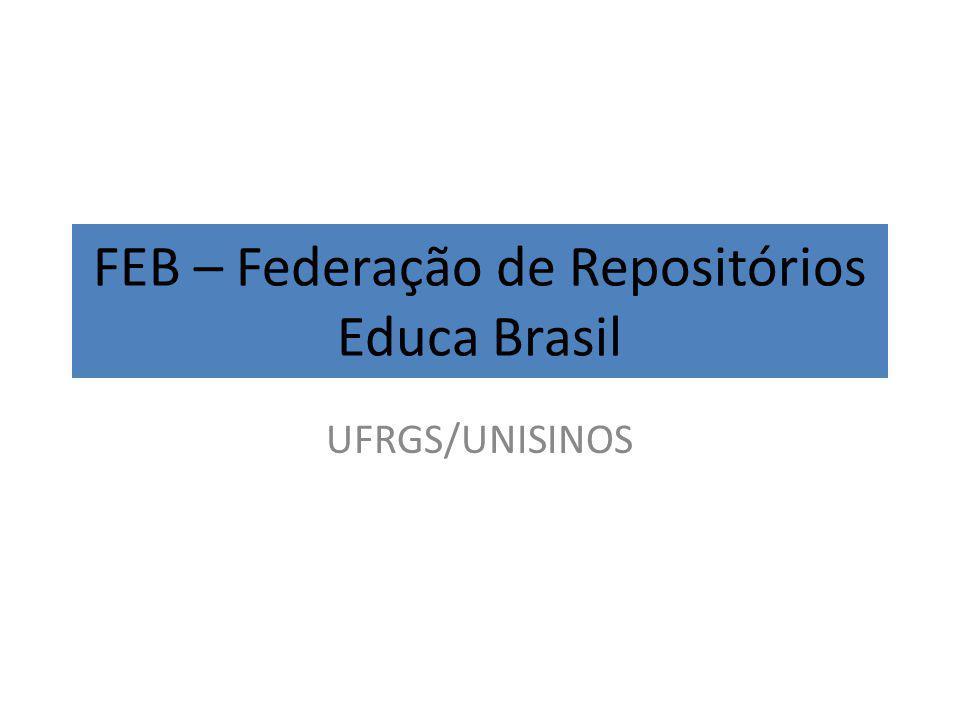 FEB – Federação de Repositórios Educa Brasil UFRGS/UNISINOS
