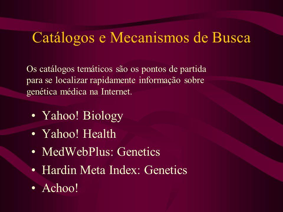 Catálogos e Mecanismos de Busca Yahoo. Biology Yahoo.