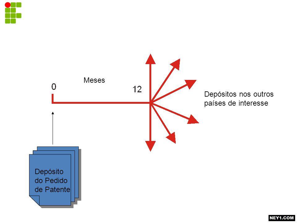 Depósitos nos outros países de interesse Depósito do Pedido de Patente Meses