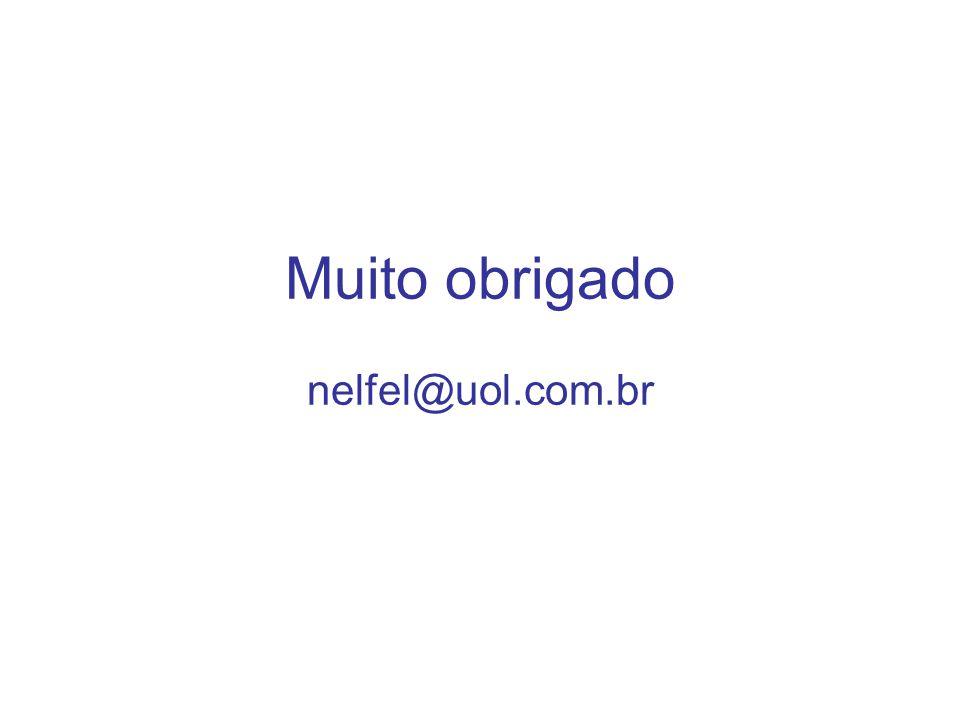 Muito obrigado nelfel@uol.com.br