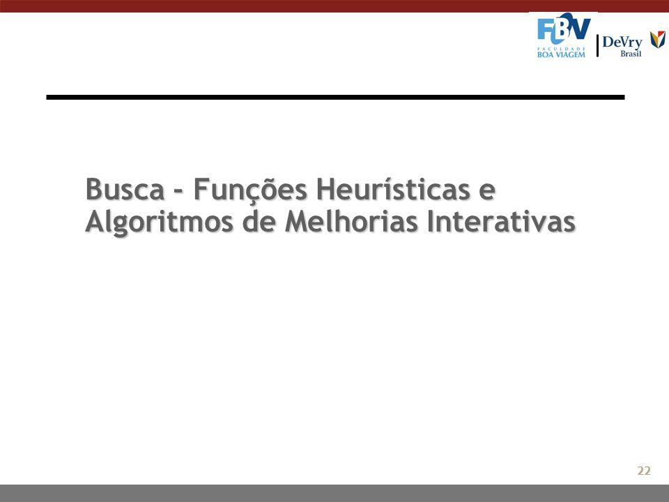 Busca - Funções Heurísticas e Algoritmos de Melhorias Interativas 22