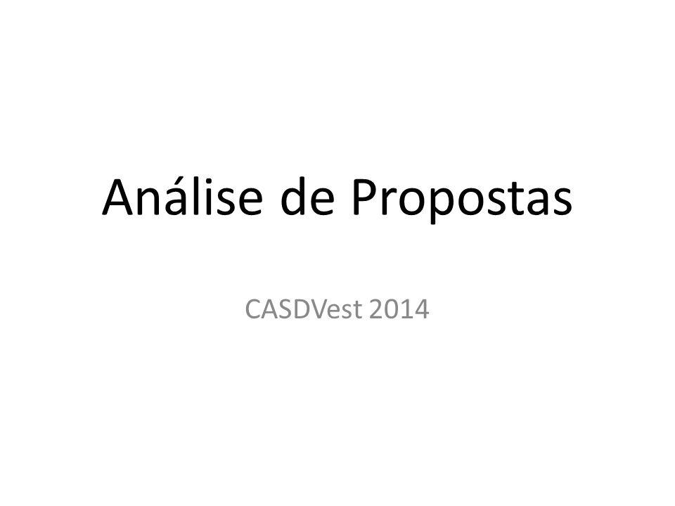 Análise de Propostas CASDVest 2014