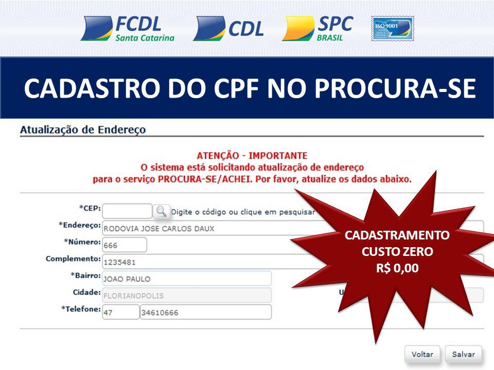 CADASTRO DO CPF NO PROCURA-SE CADASTRAMENTO CUSTO ZERO R$ 0,00 CADASTRAMENTO CUSTO ZERO R$ 0,00