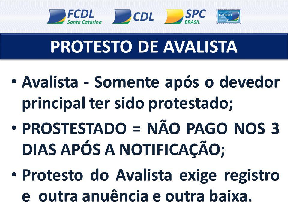 PROTESTO DE AVALISTA