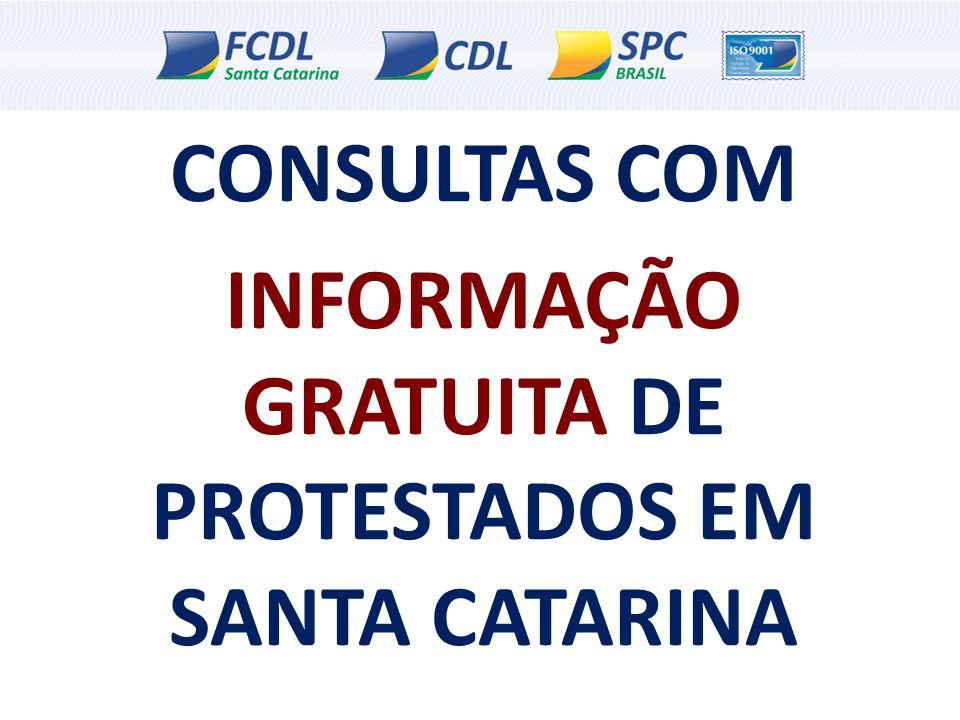 CONSULTAS COM INFORMAÇÃO GRATUITA DE PROTESTADOS EM SANTA CATARINA