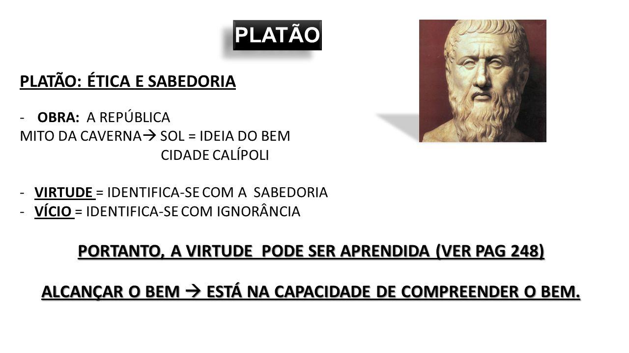 Platão desenvolveu o racionalismo ético, aprofundando a diferença entre corpo e alma.