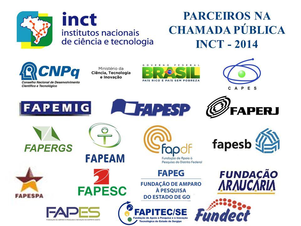 PARCEIROS NA CHAMADA PÚBLICA INCT - 2014