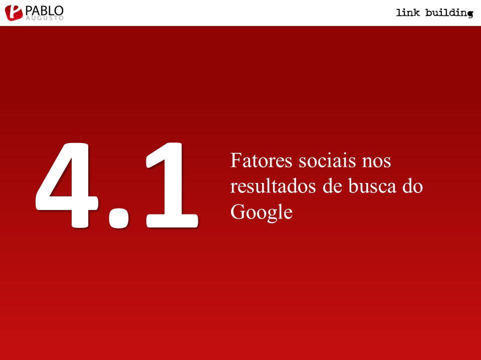 Fatores sociais nos resultados de busca do Google 4.1