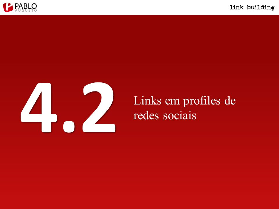 Links em profiles de redes sociais 4.2