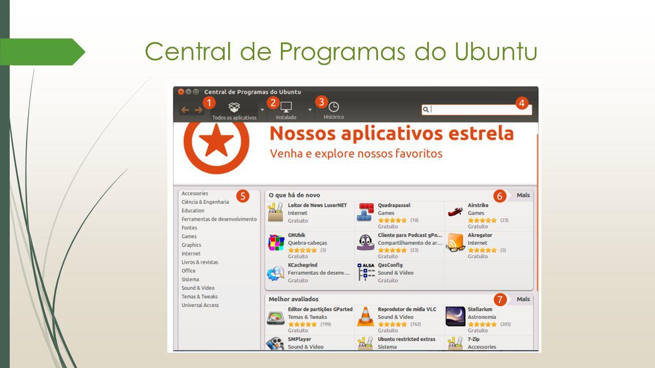 Central de Programas do Ubuntu