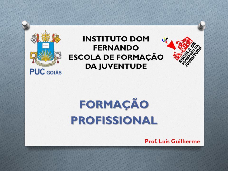 INSTITUTO DOM FERNANDO ESCOLA DE FORMAÇÃO DA JUVENTUDE FORMAÇÃOPROFISSIONAL Prof. Luis Guilherme