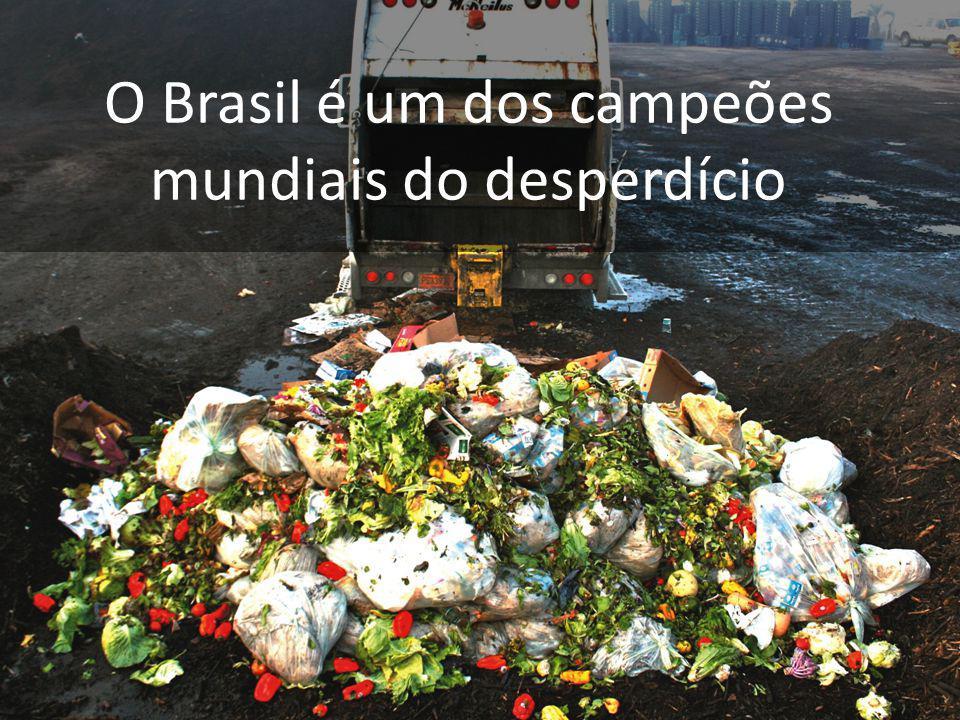 O Brasil é um dos campeões mundiais do desperdício