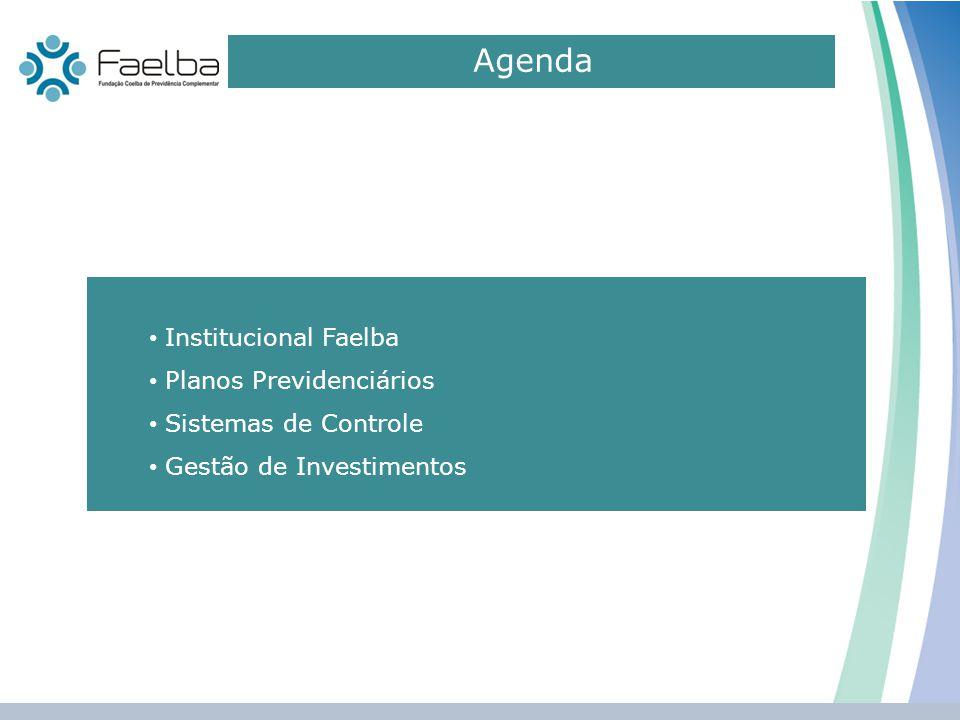 Agenda 0 Institucional Faelba Planos Previdenciários Sistemas de Controle Gestão de Investimentos