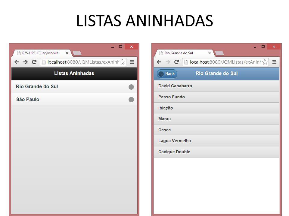 LISTAS ANINHADAS