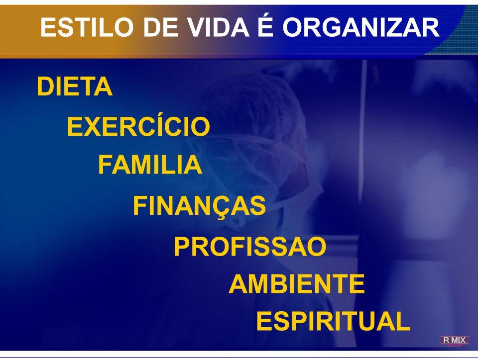 ESTILO DE VIDA É ORGANIZAR DIETA EXERCÍCIO FAMILIA FINANÇAS PROFISSAO AMBIENTE ESPIRITUAL