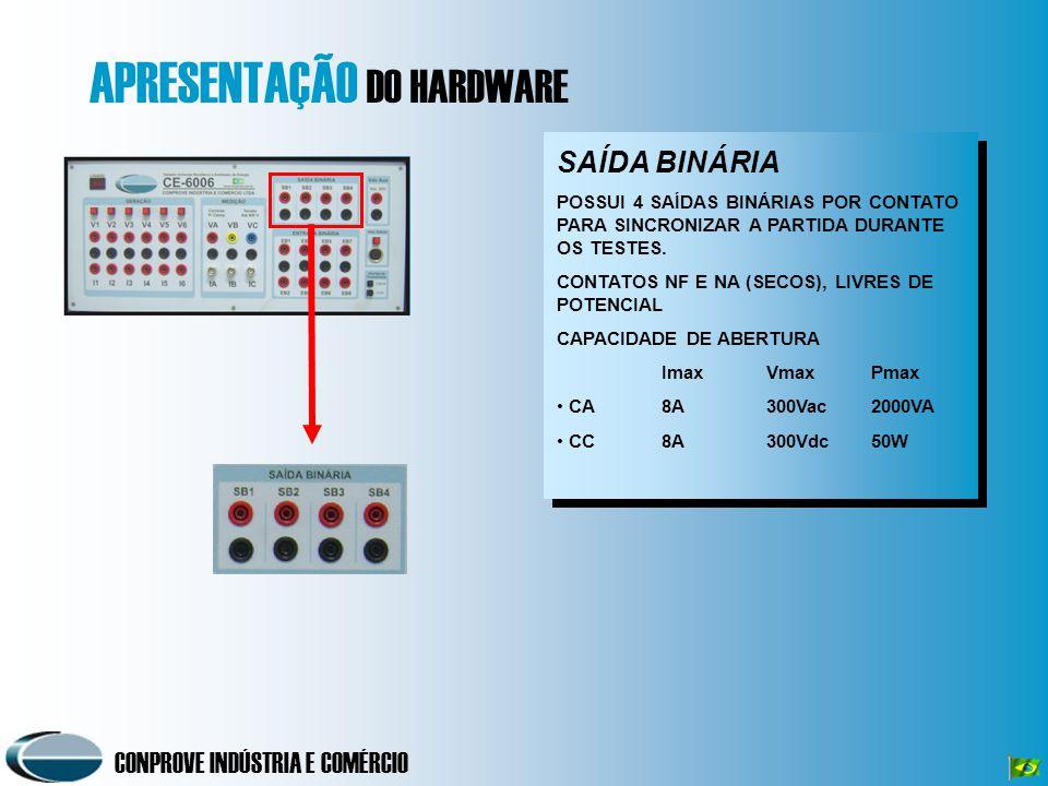 CONPROVE INDÚSTRIA E COMÉRCIO Software Rampa Rampa Permite a geração de 5 seqüências de eventos.