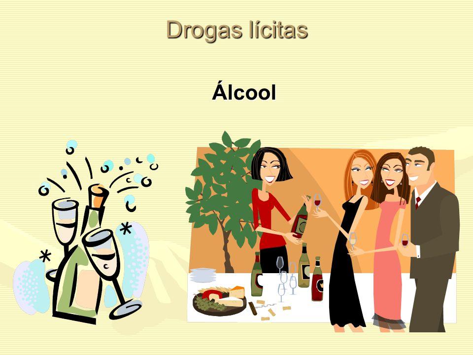 Drogas lícitas A droga ainda está presente em grande parte dos lares do mundo. Drogas lícitas são as drogas sociais, aceitas e utilizadas livremente n