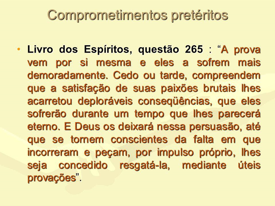 """L.E. questão 264 : """"Que é o que dirige o Espírito na escolha das provas que queira sofrer? Ele escolhe, segundo a natureza de suas faltas, as que o le"""
