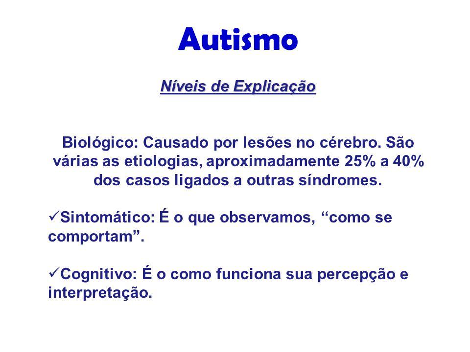 Níveis de Explicação Biológico: Causado por lesões no cérebro.