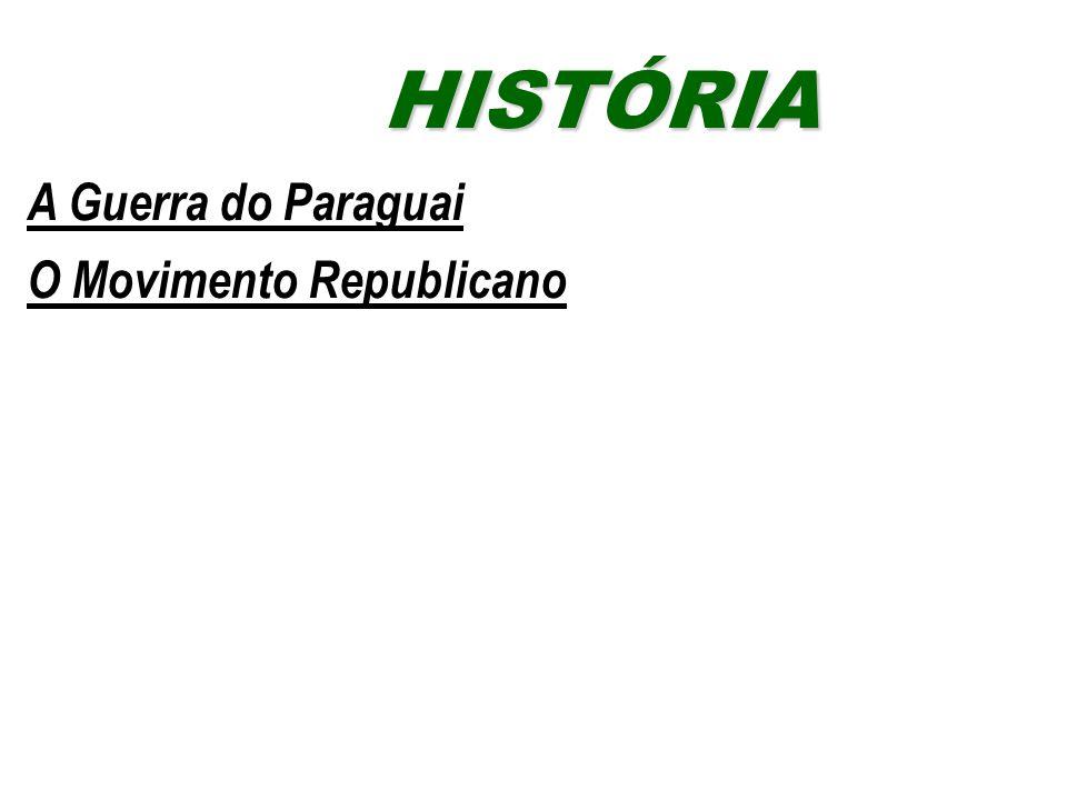 A Guerra do Paraguai O Movimento Republicano HISTÓRIAHISTÓRIA