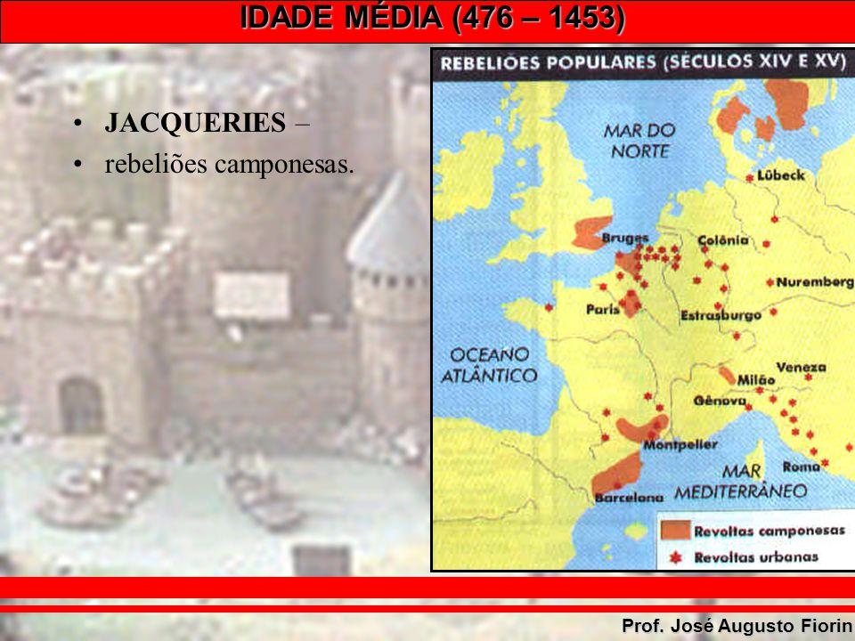 IDADE MÉDIA (476 – 1453) Prof. José Augusto Fiorin JACQUERIES – rebeliões camponesas.