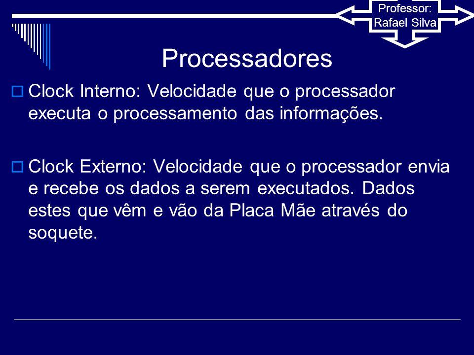 Professor: Rafael Silva  Os processadores single-core, possuem apenas um núcleo, assim ele pode executar perfeitamente diversas tarefas que exigem pouco uso dos recursos do mesmo., porém, se você executar algo que tente utilizar 100% dos recursos do processador.