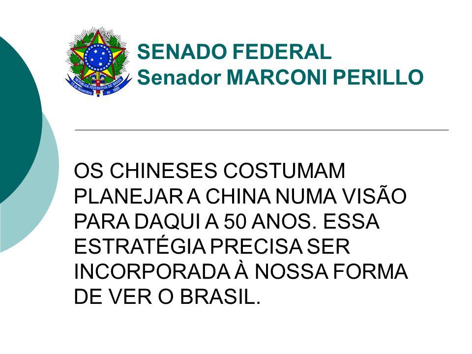 SENADO FEDERAL Senador MARCONI PERILLO O FATO É QUE O BRASIL PRECISA DE UMA MATRIZ ENERGÉTICA DIVERSIFICADA PARA CRESCER E ALCANÇAR O DESENVOLVIMENTO SUSTENTÁVEL