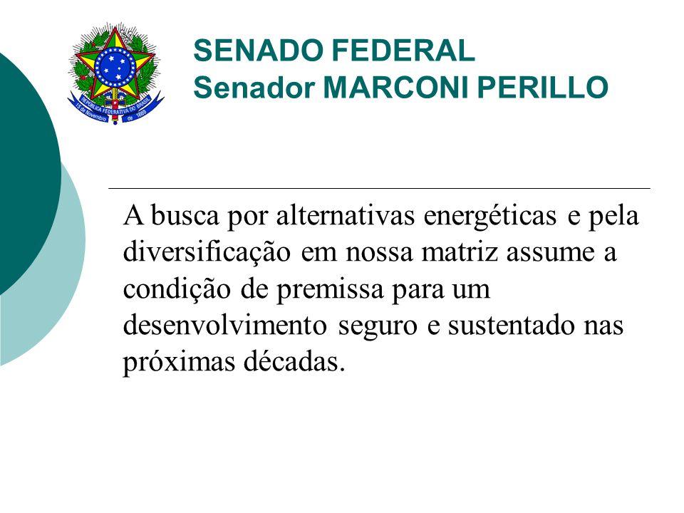 SENADO FEDERAL Senador MARCONI PERILLO A demanda brasileira por gás cresce ano após ano.
