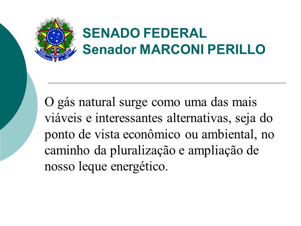 SENADO FEDERAL Senador MARCONI PERILLO O gás natural surge como uma das mais viáveis e interessantes alternativas, seja do ponto de vista econômico ou ambiental, no caminho da pluralização e ampliação de nosso leque energético.