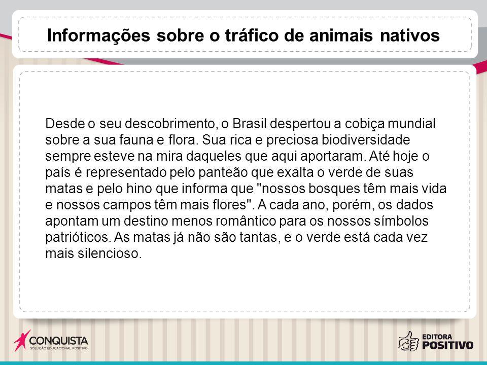 Desde o seu descobrimento, o Brasil despertou a cobiça mundial sobre a sua fauna e flora. Sua rica e preciosa biodiversidade sempre esteve na mira daq