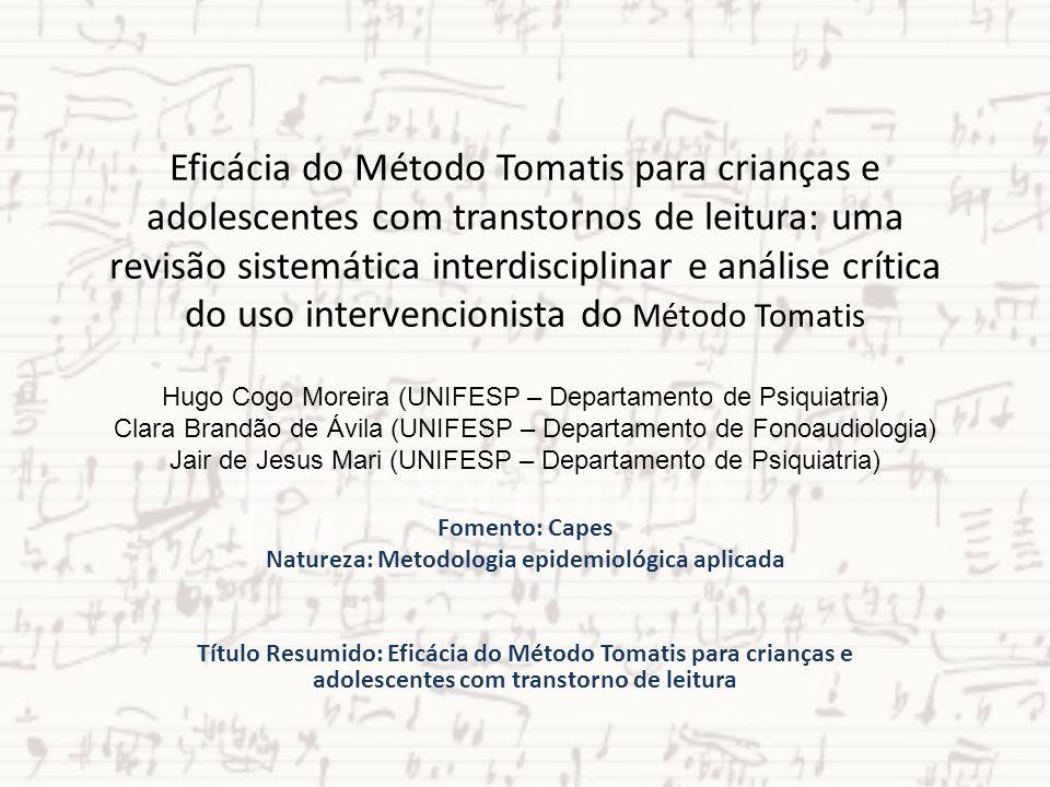 Eficácia do Método Tomatis para crianças e adolescentes com transtornos de leitura: uma revisão sistemática interdisciplinar e análise crítica do uso